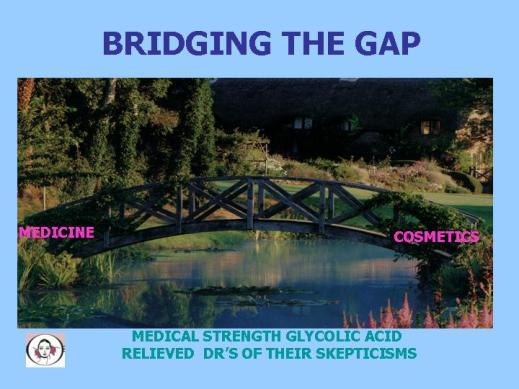 BRIDGING THE GAP BETWEEN MEDICINE AND COSMETICS